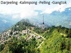 DARJEELING – KALIMPONG – PELLING - GANGTOK